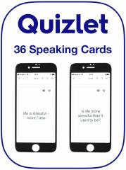 EFL English speaking cards used to