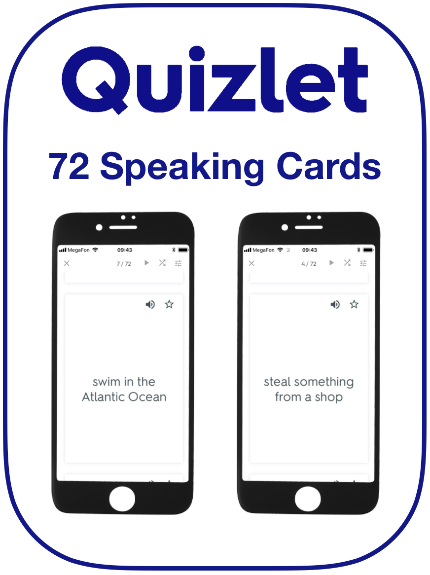 Present Perfect Speaking Cards English EFL
