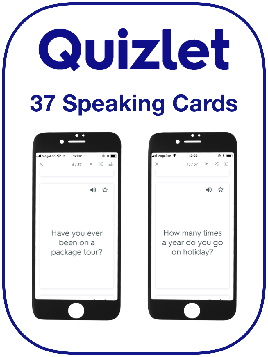 EFL Speaking Cards Holidays Travel Vacations